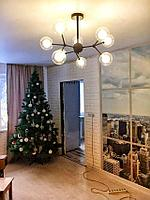 Люстра в стиле Лофт на 9 ламп со стеклянными плафонами , фото 1