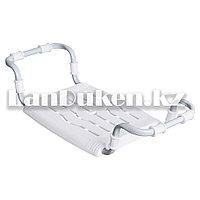 Сиденье для ванной Ника СВ-5 металлокаркас раздвижное белое (макс.нагрузка 100 кг,размер сиденья 350х290 мм.)
