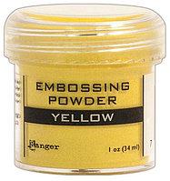 Пудра для горячего тиснения -1унция.  Цвет - желтый