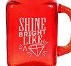 "Стеклянная кружка-банка с трубочкой ""Shine bright"", фото 3"