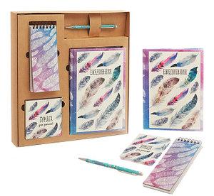 """Подарочный набор """"От всего сердца"""" с блокнотом, ежедневником, стикерами и ручкой"""
