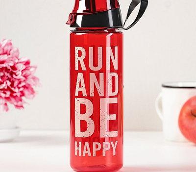 "Бутылка для бега ""Run and be Happy"" 750 мл"