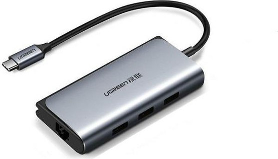 Type C хаб-конвертор. 1*Ethernet, 3*USB 3.0 +PD