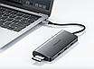 Type C мультифункциональный хаб-конвертор. 1*Ethernet, 1*VGA, 1*HDMI, 3*USB 3.0, 2*card reader +PD, фото 3