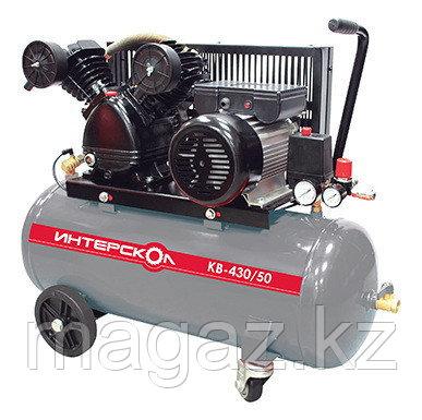 Компрессор воздушный масляный с ременным приводом Интерскол КВ-430/50, фото 2