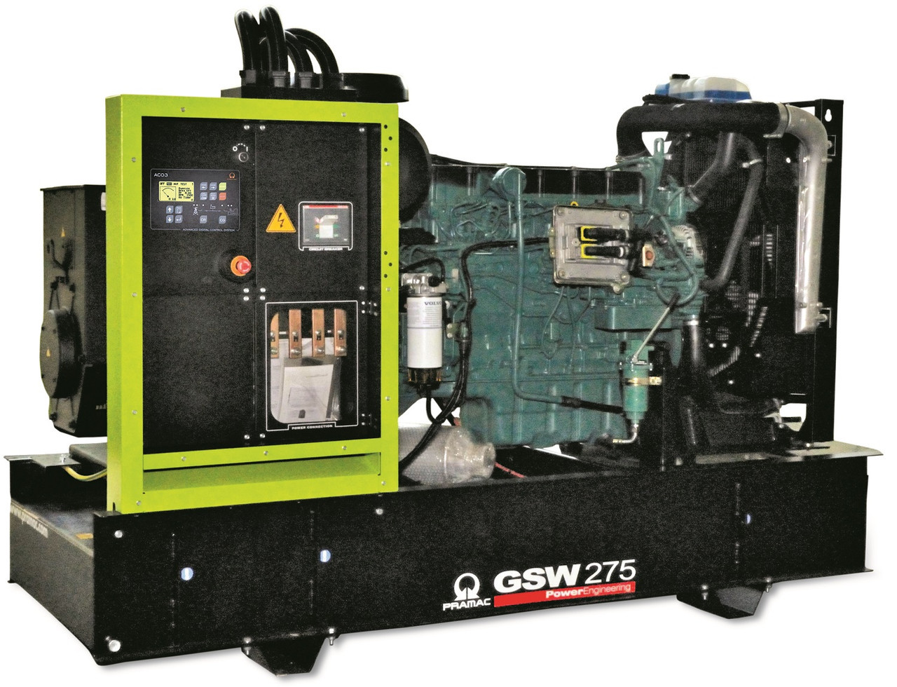 Генератор дизельный без кожуха Pramac GSW275V (Leroy Somer, Италия)