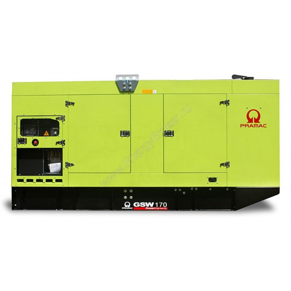 Генератор дизельный в кожухе Pramac GSW170D (Mecc Alte)