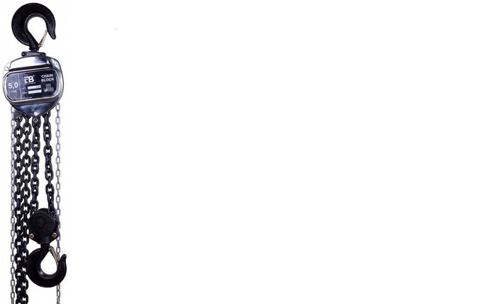 Таль ручная цепная LB HSZ-J, грузоподъемность-1т, высота подъема-18м., фото 2