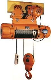 Тельфер электрический с тележкой, модель CD-5.0, высота подъема, м 9