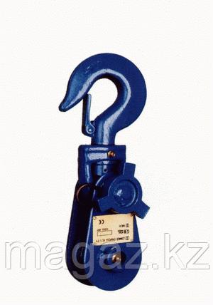 Блок однорольный крюком 1В-125Н, фото 2