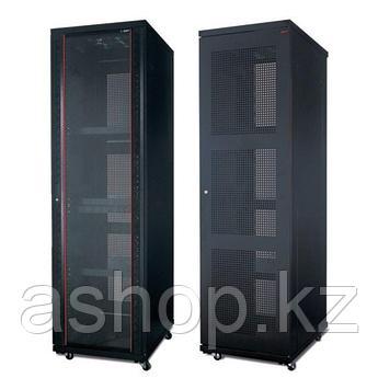 """Шкаф серверный напольный разборный SHIP 124 601.6824.24.100, Вместимость: 24Ux19"""", Глубина: 800мм, Нагрузка (m"""