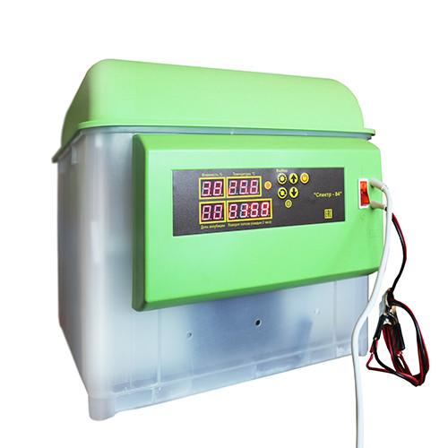 Инкубатор Спектр, на 84 яиц (220/12В цифр. терм. с изм. влаж.) автопереворот, Россия.