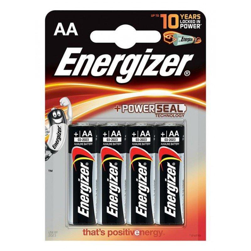Элемент питания LR6 AA Energizer POWER Alkaline 4 штуки в блистере