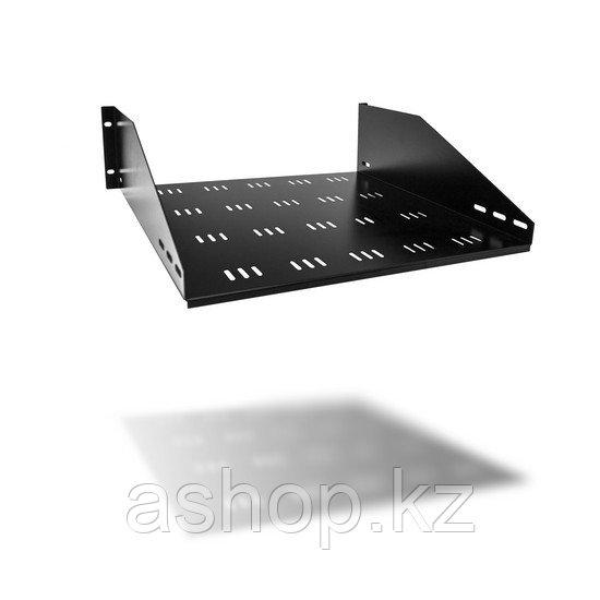 Полка одностороннего крепления для шкафов SHIP 701403102, Цвет: Чёрный