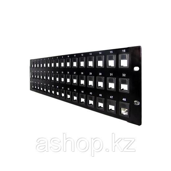 Бланк для создания патч панели SHIP P198-48, Цвет: Чёрный, Портов: 48 шт., Упаковка: Коробка