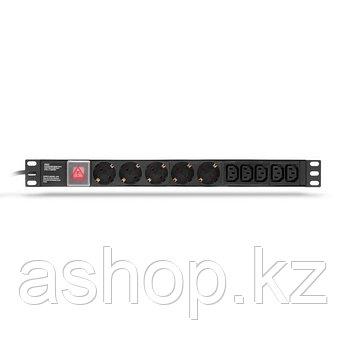 """Сетевой фильтр SHIP 700510102, 3 кВт, Длина кабеля: 2,0м., Разъемы: Тип F """"Schuko"""" (5 шт.) + Тип C13 - 5 шт.,"""