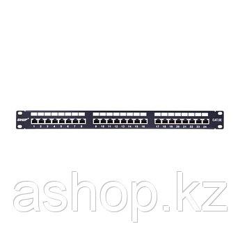 Патч-панель экранированная (FTP) SHIP P197-24М, Цвет: Чёрный, металлик, Портов: 24 шт., Кат. 5e, Упаковка: Кор