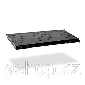 """Полка для шкафов стационарная SHIP 700110100, 19"""", Глубина: 1000мм, Нагрузка (max): 90кг, Цвет: Чёрный"""