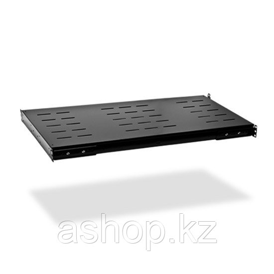 """Полка для шкафов стационарная SHIP 700112100, 19"""", Глубина: 1200мм, Нагрузка (max): 90кг, Цвет: Чёрный"""