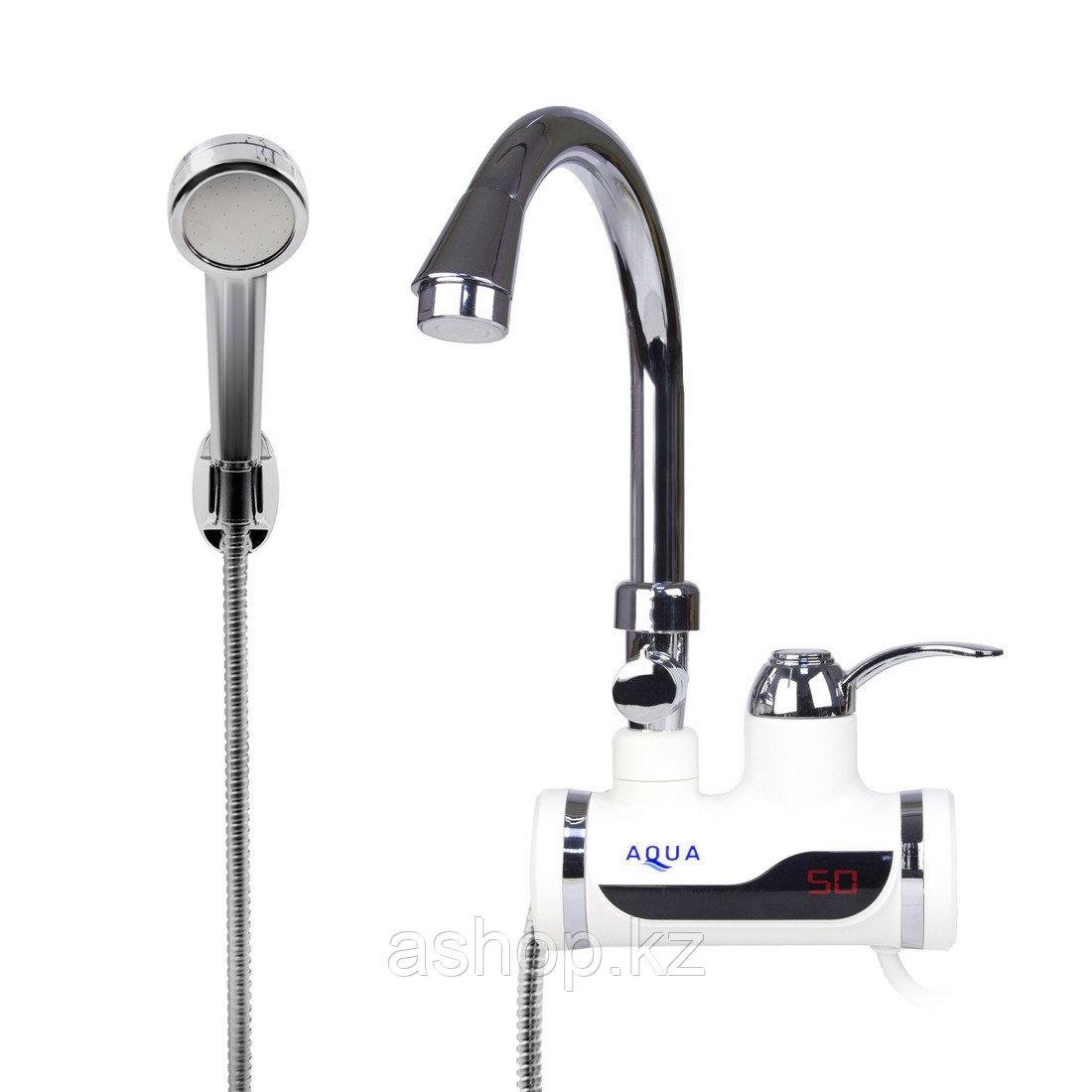 Бытовой кран с подогревом воды с душем AQUA WH102W
