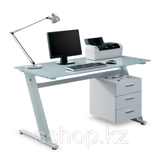 Стол компьютерный Deluxe Sigma, Материал: Стекло, Цвет: Белый, (DLFT-3314CT )