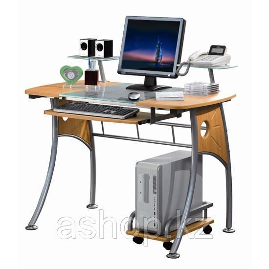Стол компьютерный Deluxe Rossetto, Материал: МДФ, стекло, Цвет: Светло-ореховый, (DLFT-3343CT)
