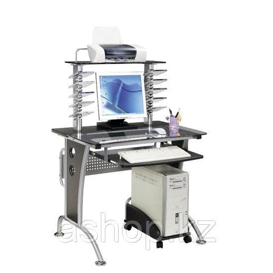 Стол компьютерный Deluxe Lanpas, Материал: МДФ, стекло, Цвет: Чёрный, (DLFT-3329CT)