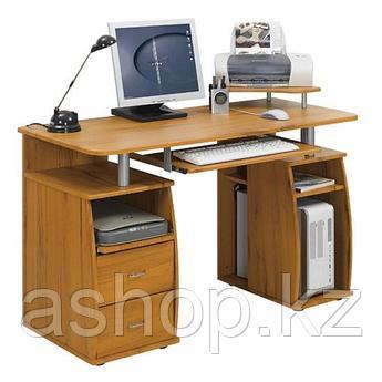 Стол компьютерный Deluxe Luxor, Материал: МДФ, Цвет: Красно-коричневый, (DLFT-211S)