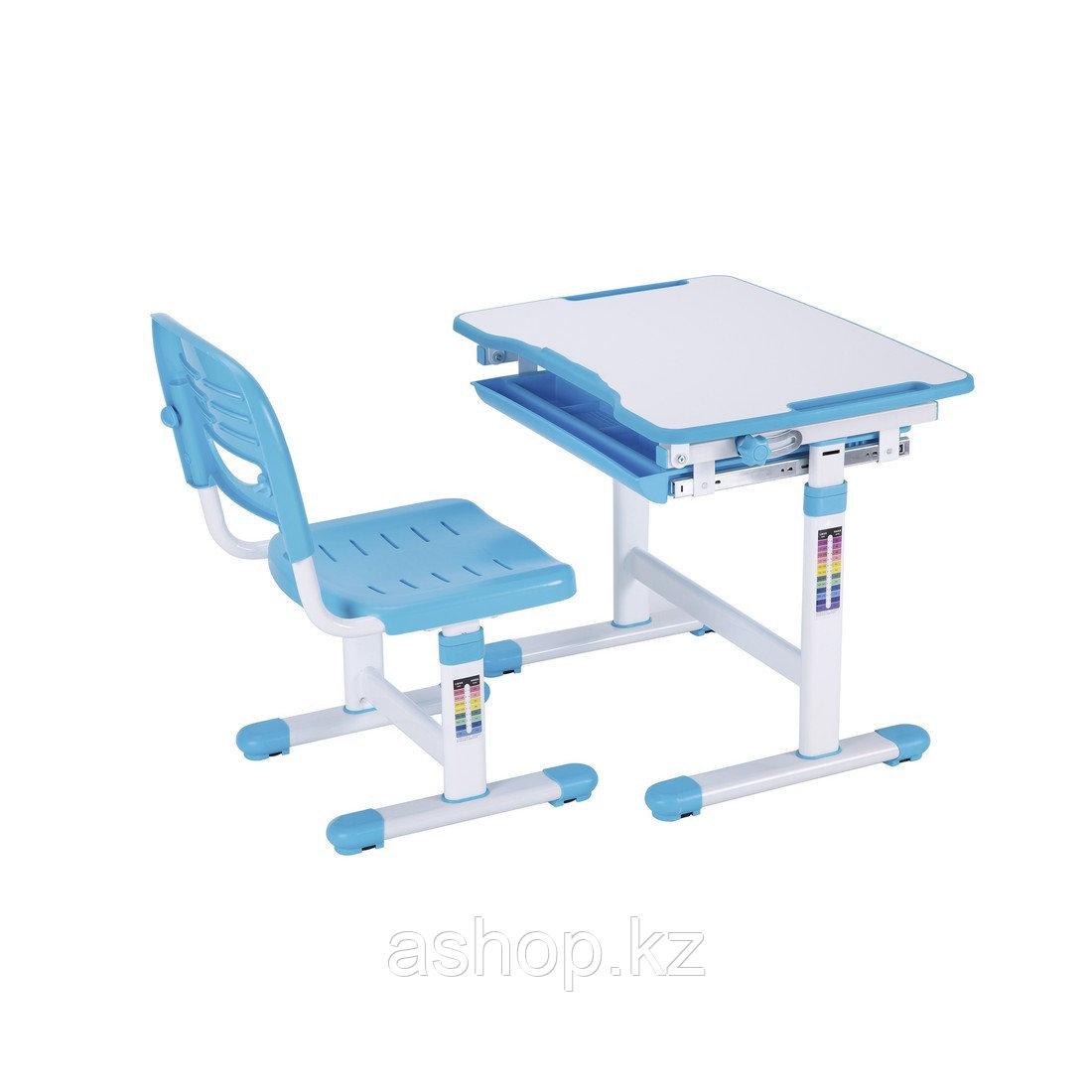 Парта-трансформер детская Deluxe DLCD-B201B, Материал: Пластик, металл, Цвет: Голубой