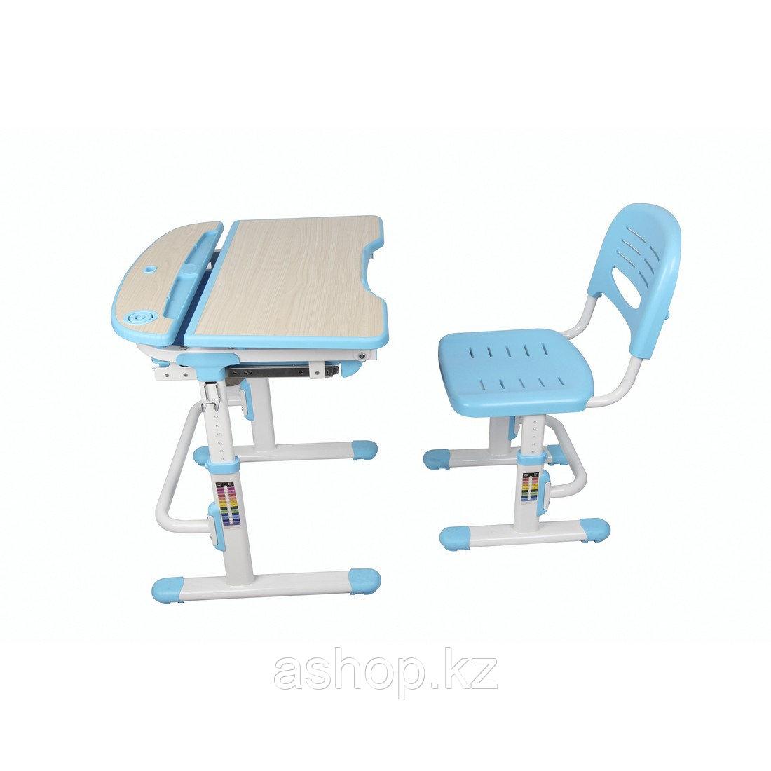 Парта-трансформер детская Deluxe DLCD-C304B, Материал: Пластик, металл, Цвет: Голубой