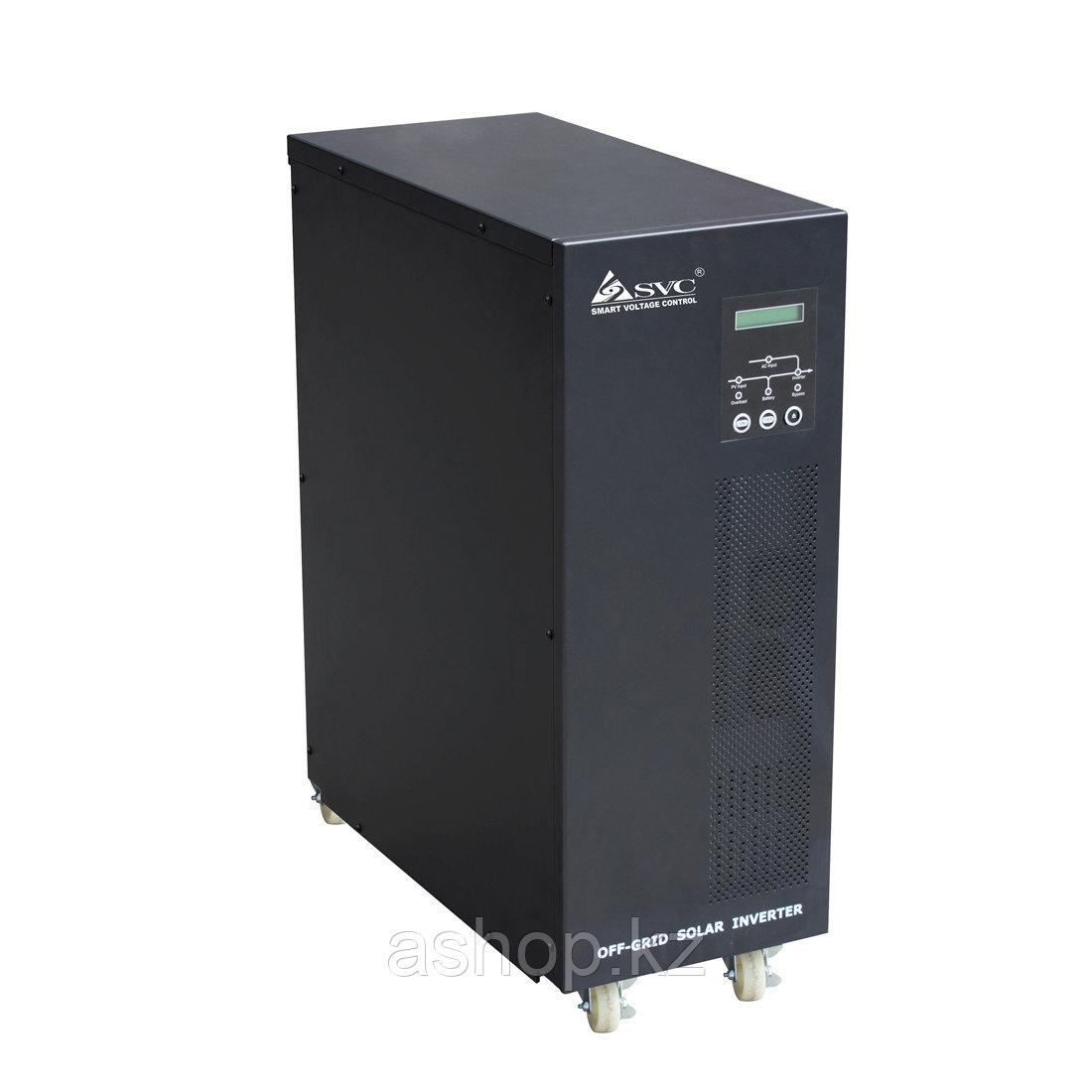 Инвертор SPV SPV-L-6000, Мощность нагрузки: 6 кВА, Питание: 220 В, 50 Гц, Выход: 220 В, Клемма, Чёрный