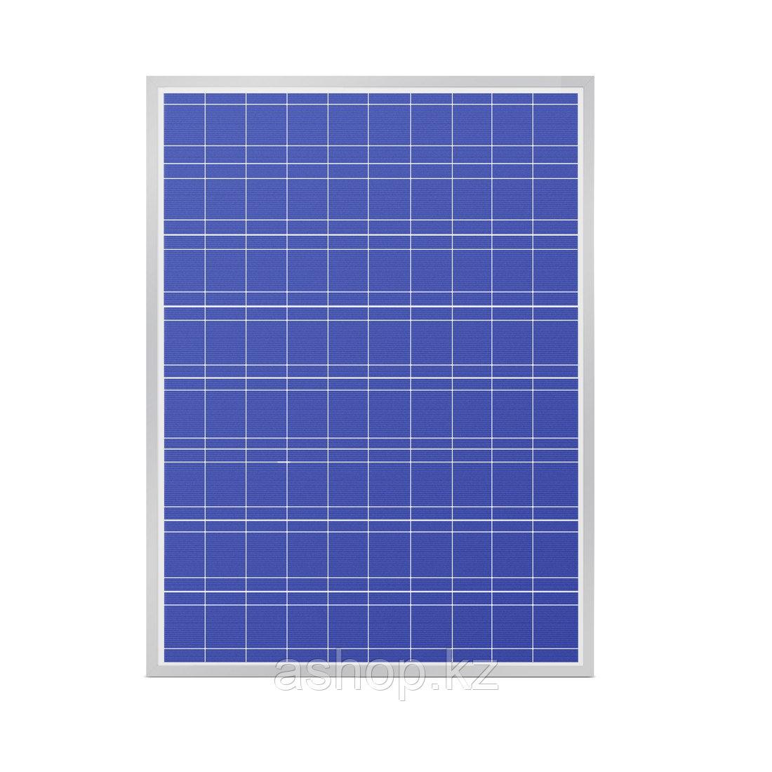 Солнечная панель поликристалическая SVC P-50, Мощность: 50 Вт, Напряжение: 12, Цвет: Синий, Упаковка: Коробка