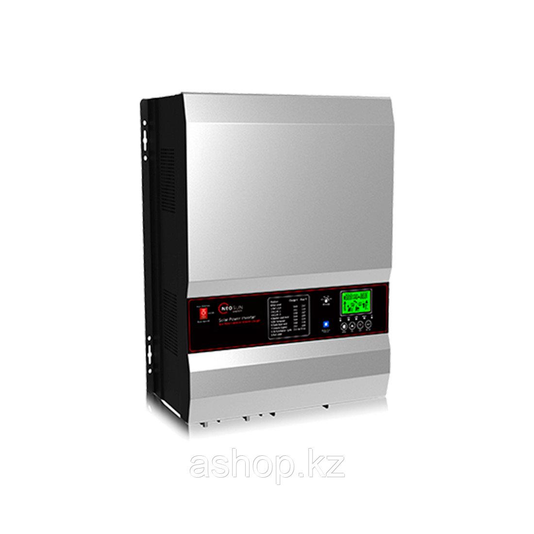Инвертор NEOSUN PVL-5K, Мощность нагрузки: 5 кВА, Питание: 220 В, 50 Гц, Выход: 220 В, Клемма, Чёрный