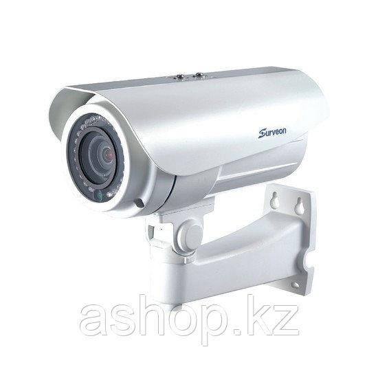 Камера IP цилиндрическая Surveon CAM3571M, Разрешение: 5 Мpi dpi, Тип объектива: автофокус f=4,5 - 9 мм, ИК по