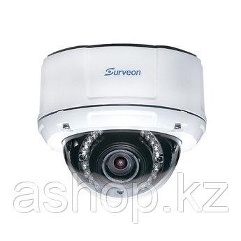 Камера IP купольная Surveon CAM4471M, Разрешение: 3 Mpi dpi, Тип объектива: автофокус f=3 - 9 мм, Цвет: Белый