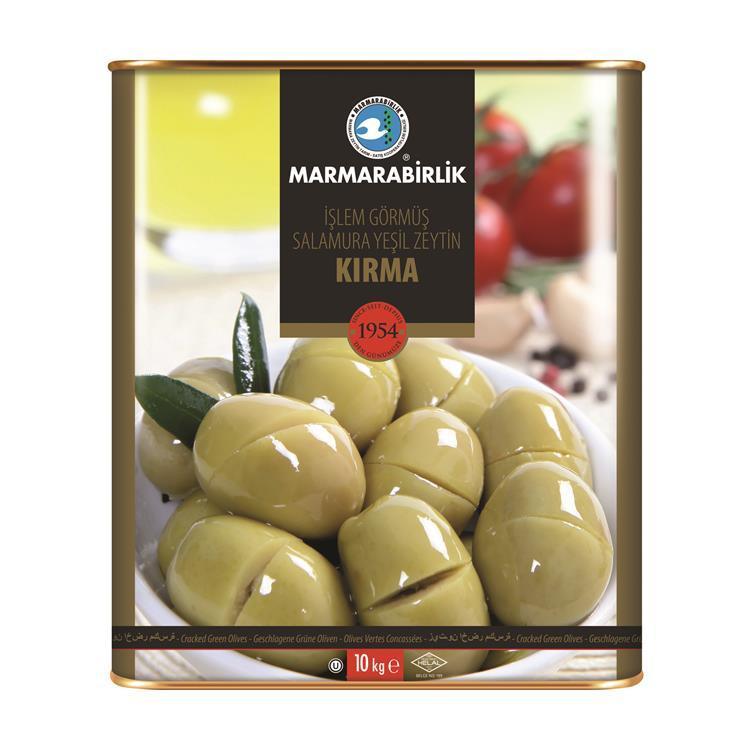 Зелёные оливки Kirma yeşil zeytin
