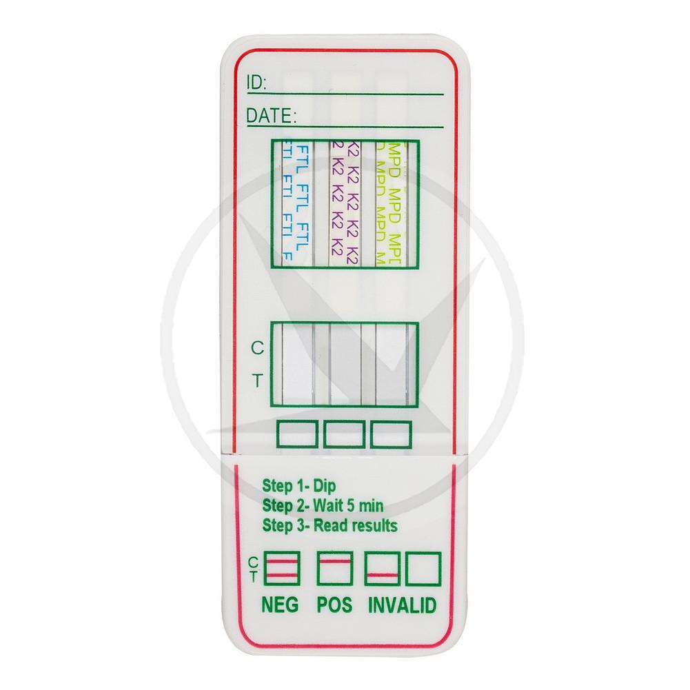 Тест-кассета наркотест на 3 наркотических вещества (Опиаты/Марихуана/Спайсы)