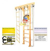 Домашний спортивный комплекс Kampfer Wooden Ladder Wall Basketball Shield 2.43, №0 без покрытия