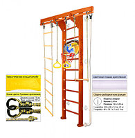 Домашний спортивный комплекс Kampfer Wooden Ladder Wall Basketball Shield 2.43, №4 вишневый