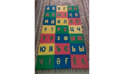 Коврик-пазл детский «Казахский Алфавит»