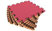 Мягкий пол универсальный 25×25 (см) желто-красный Площадь коврика: 1 м2