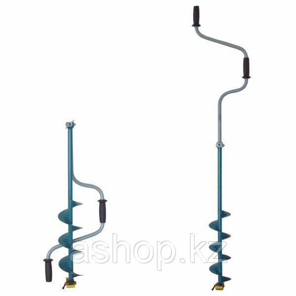 Ледобур складной Тонар ЛР-130Д, Рукоять: Со встроенным удлинителем, Диаметр: 130 мм, Толщина льда: 1000 мм, Цв