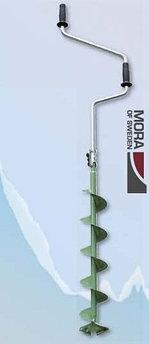Ледобур складной Mora Expert 130, Диаметр: 130 мм, Толщина льда: 950 мм, Цвет: Зелёный, Упаковка: Розничная, (