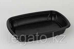 Контейнер Ланч-бокс СпК-230-37 мм 700 мл ЧЕРНЫЙ (100шт кор/50шт уп)