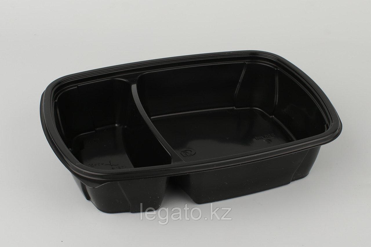 Контейнер Ланч-бокс СпК-230-50-2мм 950 мл ЧЕРНЫЙ (100шт кор/50шт уп)