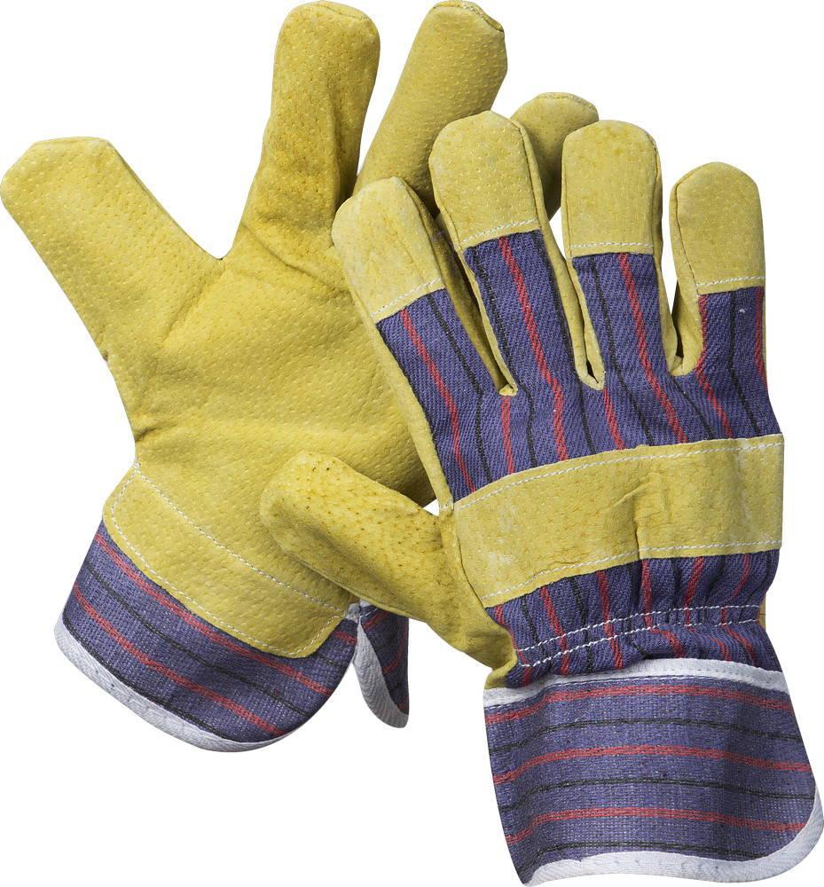 """(1131-XL) Перчатки STAYER """"MASTER"""" рабочие комбинированные кожаные из спилка с тиснением, XL"""