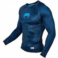 Рашгард Venum Nightcrawler Long Sleeves - Navy Blue, фото 1