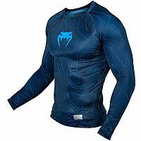 Рашгард Venum Nightcrawler Long Sleeves - Navy Blue