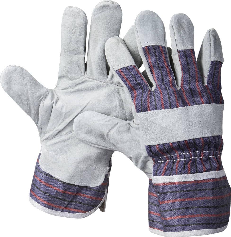 """(1130-XL) Перчатки STAYER """"MASTER"""" рабочие комбинированные кожаные из спилка, XL"""