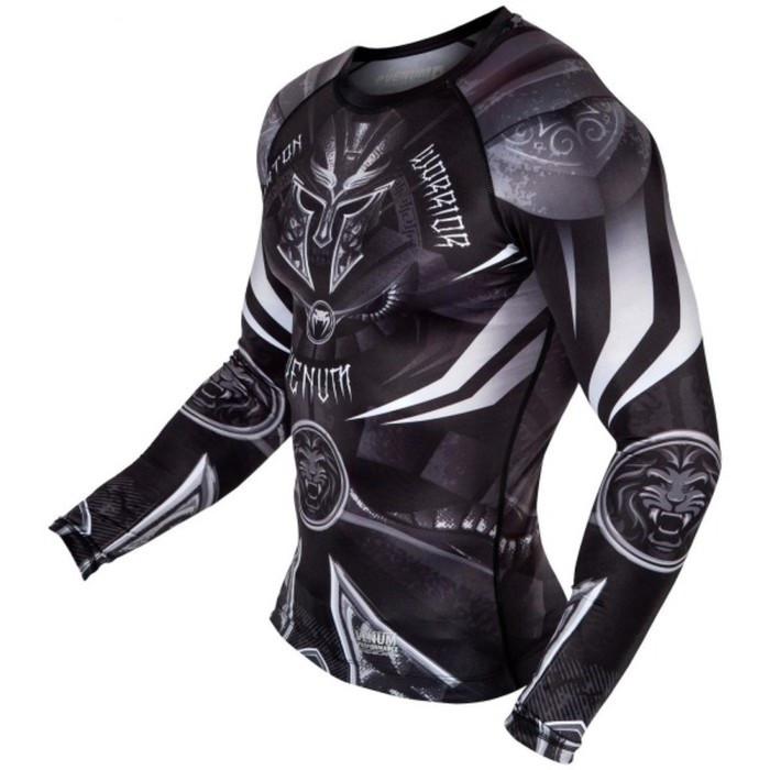 Рашгард Venum Gladiator 3.0 Rashguard Black White